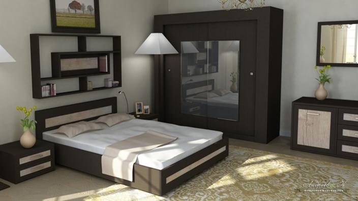 Стильный спальный гарнитур за 52 000 руб